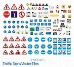 تصاویر کورل علائم راهنمایی و رانندگیTraffic Signs Vector Files