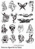 Extreme clipart Vector Tatoo Collection