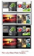 تصاویر ایندیزاین نمونه آلبوم مینیمالیست گرافیک ریورGraphic River Minimalist Album Photo Template