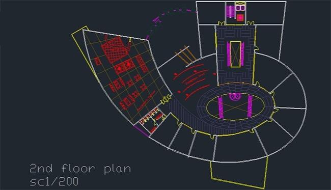 پلان برج تجاری اداری، پلان طبقات برای اتوکد / Commercial Office Tower and Floor Plans for AutoCAD