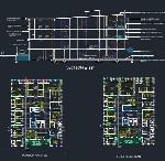 پلان بیمارستان ۴ طبقه، پلان نما، طبقات و … برای اتوکدService building plan
