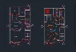 پلان خانه مسکونی برای اتوکدResidential building plan
