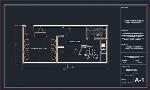 پلان مطب دندانپزشکی ۴۵ متری (پلان اندازه گذاری) برای اتوکدService building plan