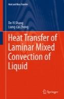 انتقال حرارت همرفت آرام مخلوط مایعHeat Transfer of Laminar Mixed Convection of Liquid