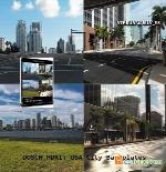 مجموعه HDRI جاده از DOSCH DESIGNDosch HDRI USA Road Backplates