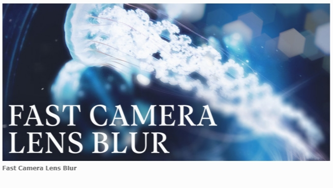 AESCRIPTS Fast Camera Lens Blur v3.11.0 for After Effects & Premiere Pro