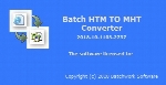 Batch HTM to MHT Converter 2018.10.1103.2737