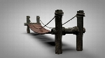 Wooden Bridge (Rigged C4D Model)