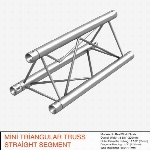 Mini Triangular Truss Straight Segment 111