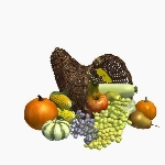 Cornucopia Basket With Food V2