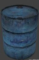 Blue Metal Barrel