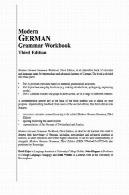 کتاب گرامر آلمانی مدرنModern German Grammar Workbook